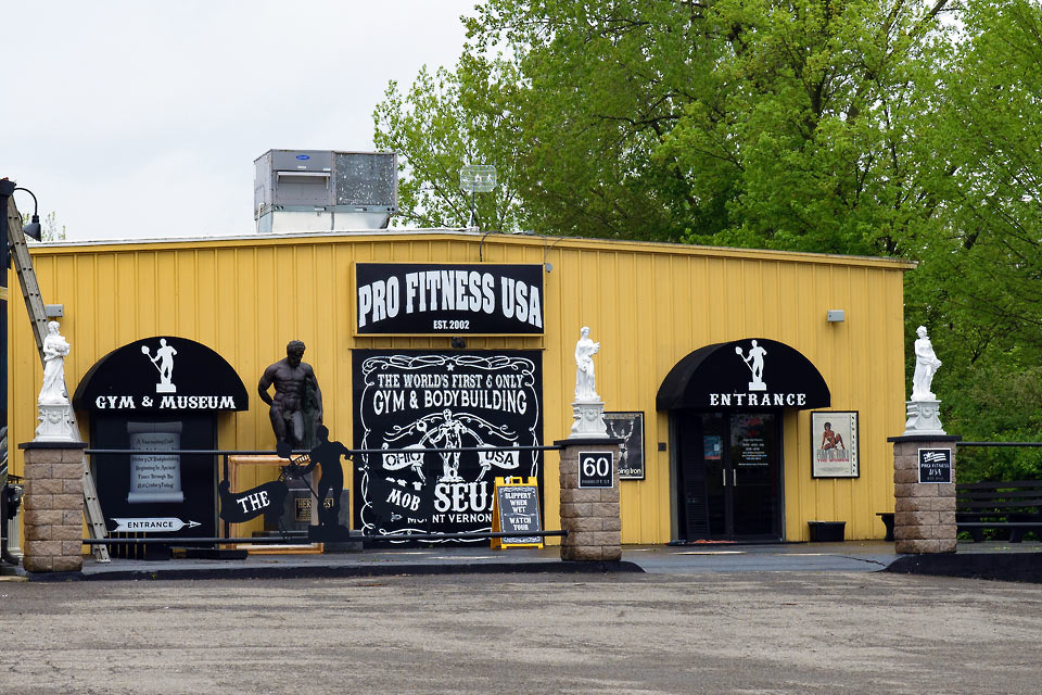 Joshua Morrison/News Dennis Bates, owner of Pro Fitness USA and Museum of Bodybuilding, 60 Parrott Street, Mount Vernon, was cited on May 13 with a violation of public health rule after an incident on April 13. Gyms were closed March 17 as part of Governor DeWine's stay-at-home order.