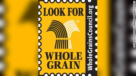 """Look for Whole Grains"" stamp created by Oldways Whole Grains Council"