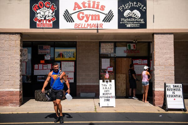 Atilis Gym in Bellmawr, N.J., has repeatedly tried to reopen, in violation of the governor's coronavirus shutdown order.