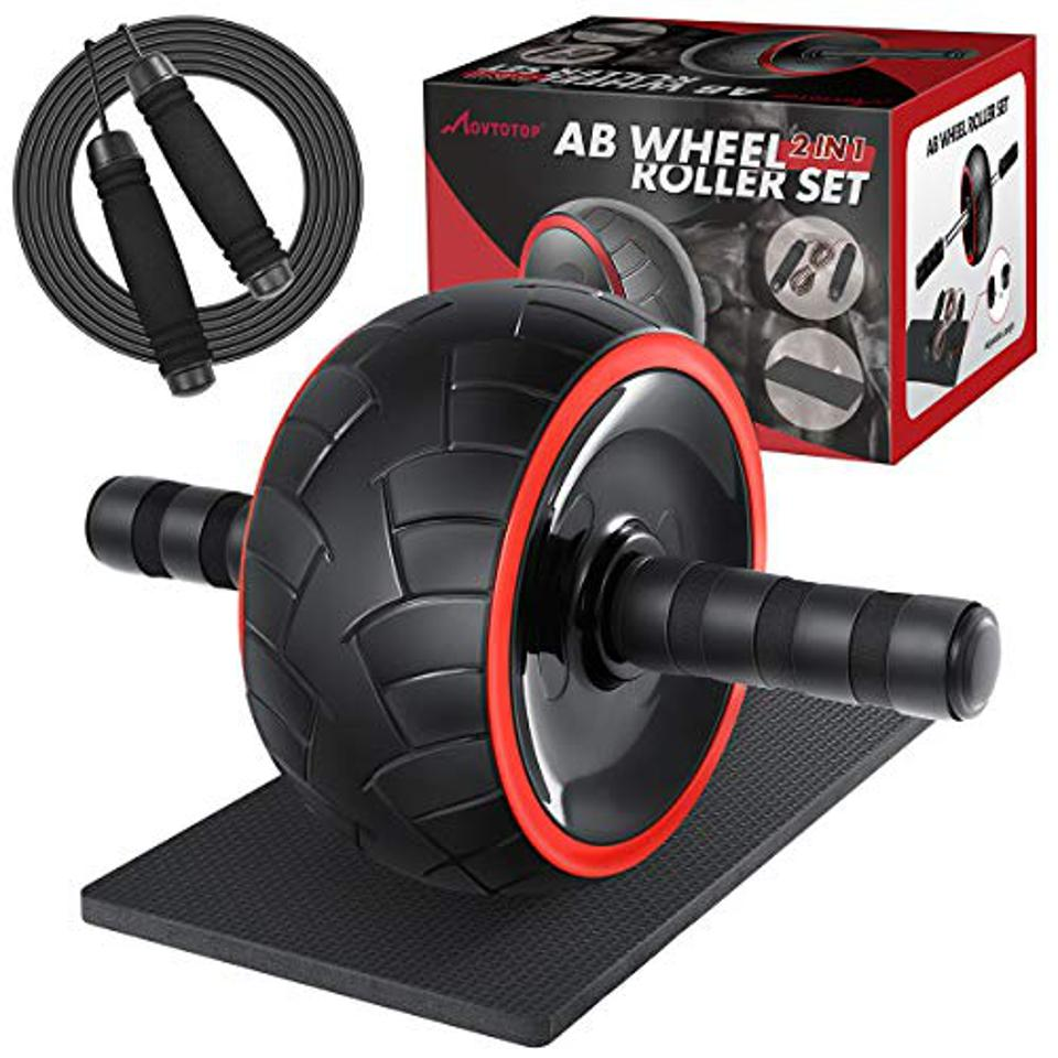 Amazon Prime Day MOVTOTOP 3-in-1 Ab Wheel Roller Kit with Knee Mat and Jump Rope