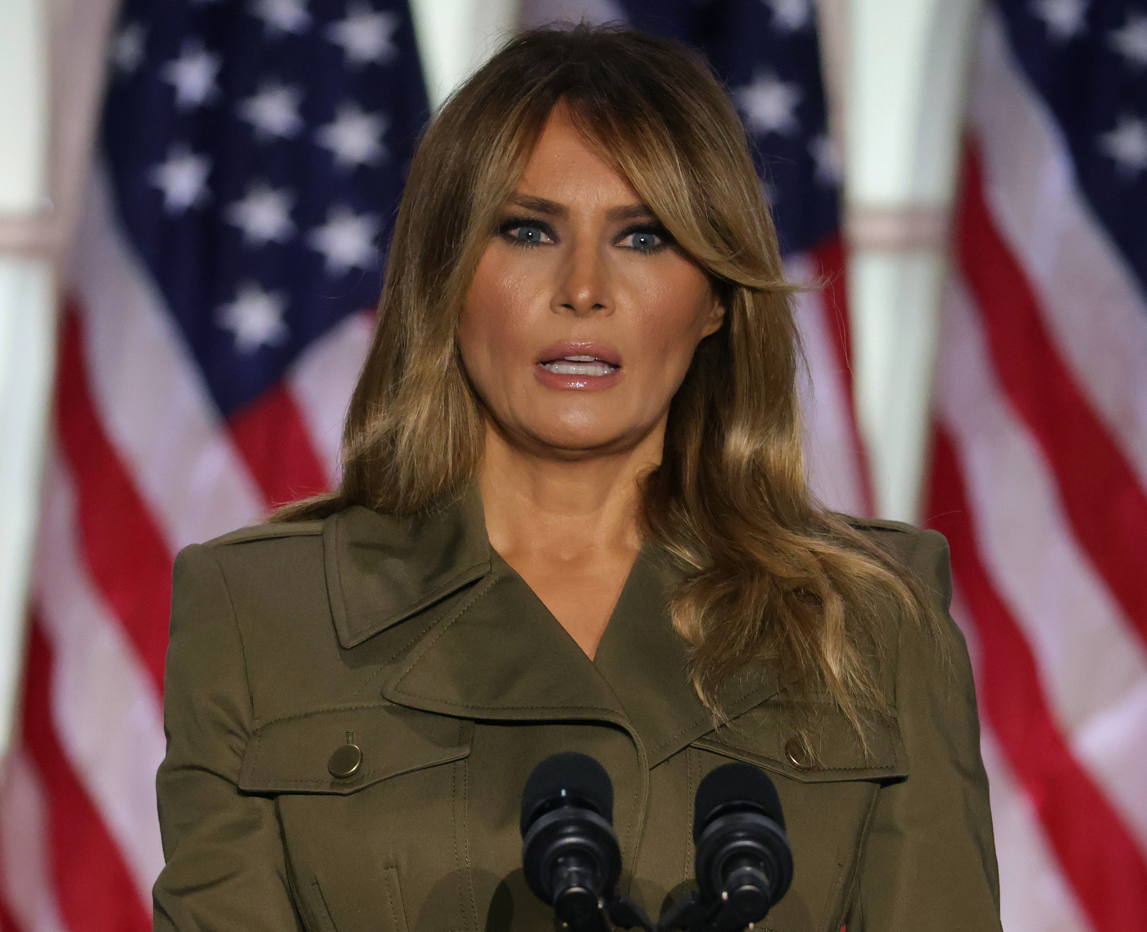 First Lady Melania Trump revealed on Wednesday that she's now tested negative for coronavirus