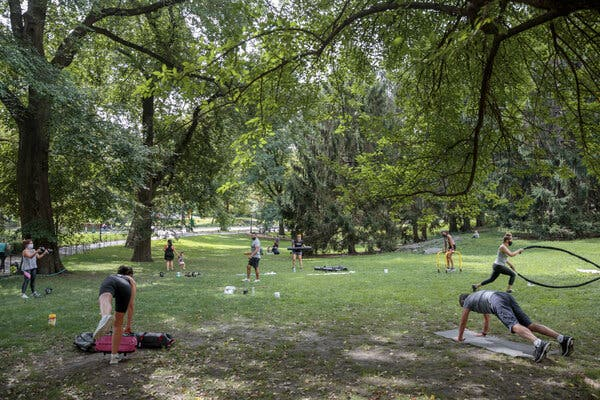 Some gym operators, like Marco Guanilo, who owns Momentum Fitness, have held outdoor classes in Central Park.
