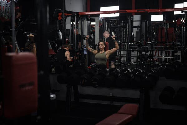 "Joanne Buckley working out at the Body Tech Fitness gym in Liverpool this month. ""People in London are making decisions that they don't really understand,"" she said."