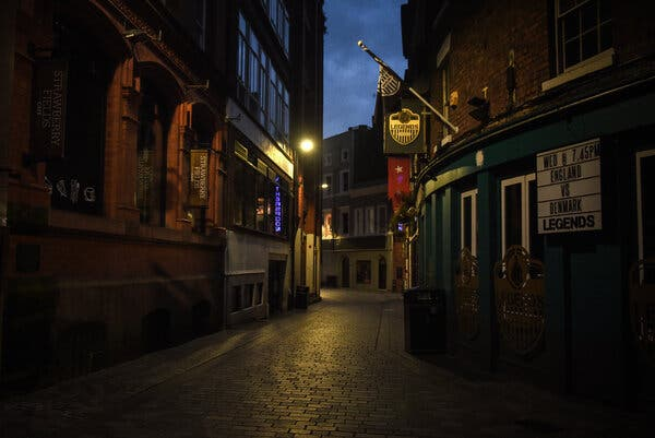 The Cavern Quarter in Liverpool, northwestern England, where the Beatles made their name. Many of the pubs and clubs in the area are closed because of new coronavirus restrictions.
